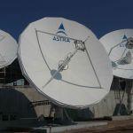 Paraboly v stredisku SES ASTRA v Luxembursku